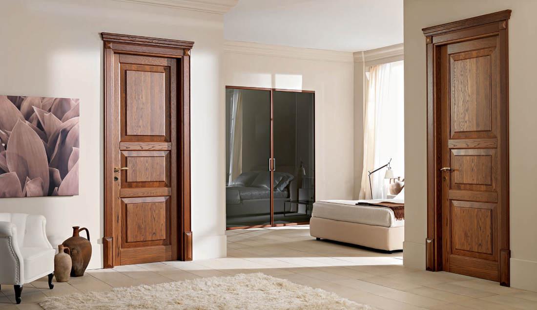 Realizzazione e vendita a roma di porte in legno massello - Laccatura porte interne ...